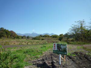 物件東側に見える八ヶ岳(2018年10月撮影)