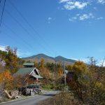 敷地から東方向に八ヶ岳(2017年11月)