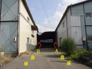 前面道路より(令和元年9月撮影)