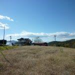 敷地から西方向を撮影(2017年10月)