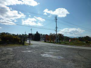 敷地から南側を撮影(2017年10月)
