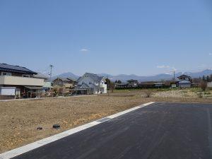 前面道路から北東方向を撮影(2020年4月)