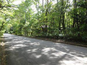 敷地前道路北西方向から撮影(2017年9月)