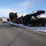 北側県道から撮影(2018年2月)