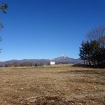 北東方向の蓼科山の眺望(2021年1月)