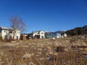 物件東方向に八ヶ岳の眺望あり(2021年1月)