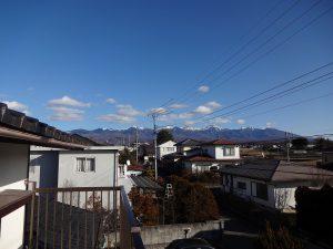 ベランダから東方向の八ケ岳の眺望(2019年1月)