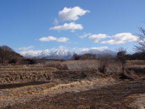 物件東方向に八ヶ岳連峰を望む(2019年1月)