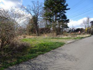 前面道路から北方向を撮影(2021年4月)