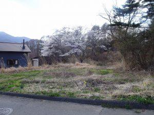 前面道路から西方向を撮影(2021年4月)