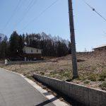 北側前面道路から撮影(2020年4月)