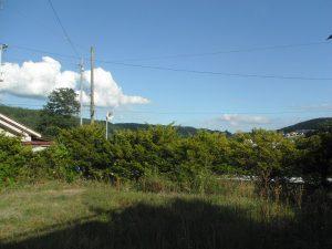 物件東方向を撮影(2018年8月)