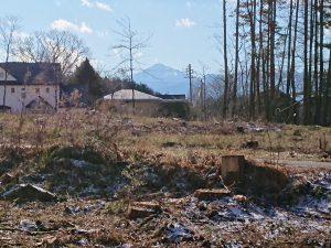 現地から南西方向の甲斐駒ケ岳の眺望(2018年12月)