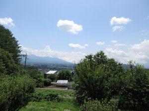 東方向を撮影。八ケ岳の眺望有り(2019年7月)