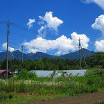 物件から東方向に見える八ケ岳(2019年8月)