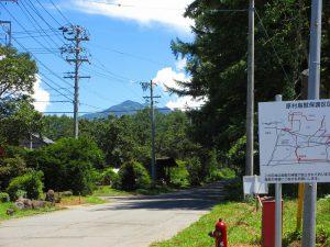 東方向に見える八ケ岳(2019年8月)