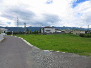 東側道路から南方向を撮影(2019年9月)