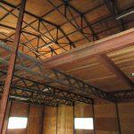 倉庫A入口から見える2階(令和元年9月撮影)