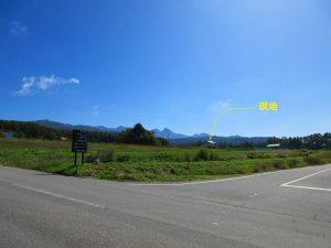 R299から見える家と八ケ岳(2019年10月)