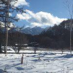 物件から東側に見える八ヶ岳連峰(2018年2月)