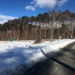 前面道路から北西方向を撮影(2018年2月)