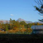 物件東方向の八ケ岳の眺望(2019年11月)