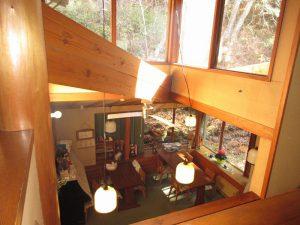 3階から撮影した食堂(2階)