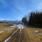 前面道路から東方向に臨む八ケ岳(2020年1月)