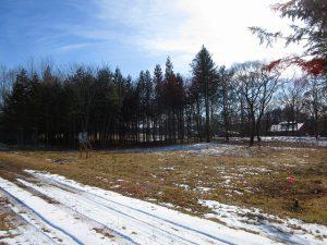 前面道路北西側から撮影(2020年1月)