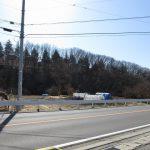 前面道路北側から撮影(2020年2月)