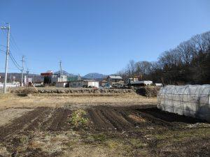 物件東方向を撮影。蓼科山の眺望(2020年2月撮影)