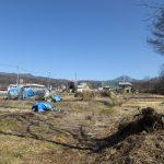 南西側から物件を撮影。車山・蓼科山の眺望(2020年2月)