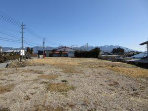 物件東方向を撮影。八ヶ岳の眺望(2020年2月)