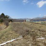 物件北方向の蓼科山の眺望(2020年3月)