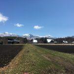東方向を撮影。八ヶ岳の眺望(2020年4月)