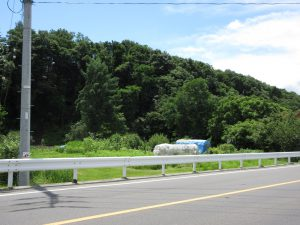 前面道路北側から撮影(2020年7月)
