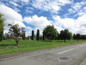 前面道路南西側から撮影(2020年9月)