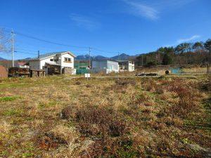 物件東方向に八ヶ岳の眺望あり(2020年12月)