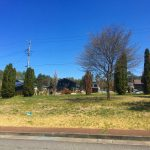 前面道路南側から撮影(2021年4月)