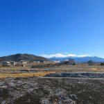 物件東方向の様子、八ヶ岳の眺望(2021年1月)