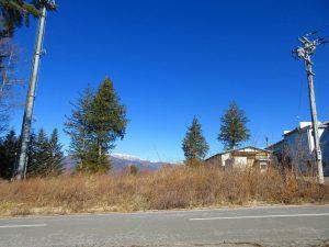 前面道路から撮影。車山の眺望(2021年1月)