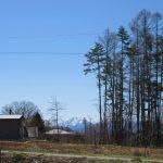 南側に見える甲斐駒ヶ岳