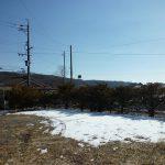 物件から東方向に見える八ケ岳(2017年2月撮影)