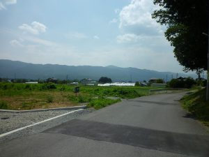 敷地南西側の景色(2017年6月撮影)