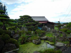 和風庭園と池