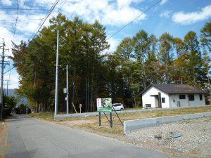 道路東側から撮影(2017年11月)