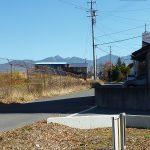 敷地から見える八ヶ岳連峰(2017年11月)