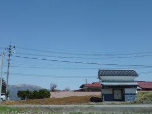 南側道路から撮影(2018年4月)