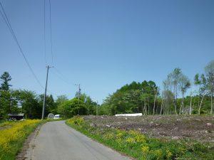 前面道路南側から撮影(2018年5月)