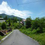 物件前の町道から見える八ヶ岳(2018年6月)